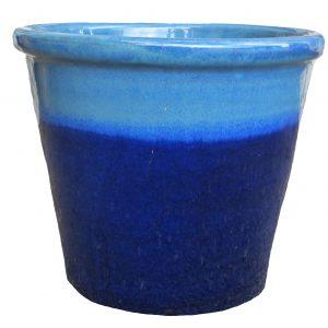 6631 Shrub Pot - Ming Blue