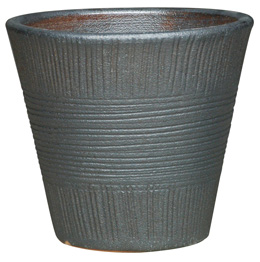 6699 Tall Liley Pot - Sumba, Sandy Gun Metal