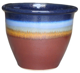 6502 Planter - Tritone Blue Rust