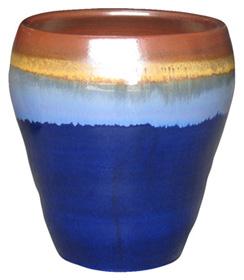 6561 Egg Pot - Tritone Rust Blue