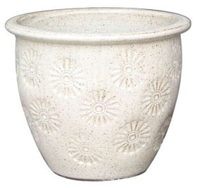 6697 OM Planter - Daisy Joy Sesame Cream