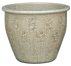 6697 OM Planter - Shabu Sesame Cream